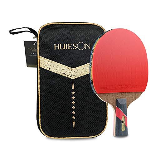 Hochleistungs-Tischtennisschläger, hochelastischer Schwamm, Anti-Verschleiß-Profi-Tischtennisschläger, die beste Ausrüstung für Anfänger, geeignet für Trainingswettkämpfe für Erwachsene / Kinder