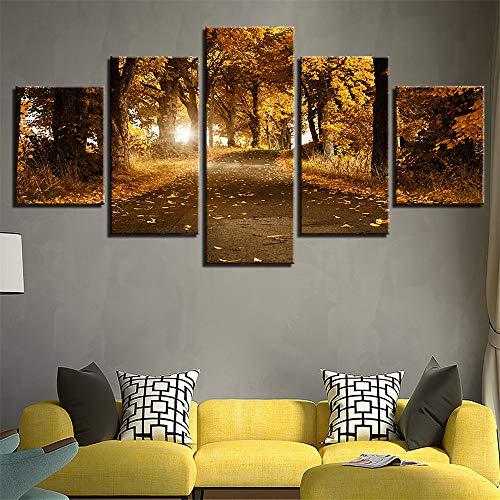 CHLCH Pittura Decorativa,Combinazione a Getto d'inchiostro HD Foresta Paesaggio Artigianale Pittura casa Letto Sfondo Muro Dipinto Pittura murale 8 Nucleo di Pittura 20x35cmx2 20x45cmx2 20x55cmx1