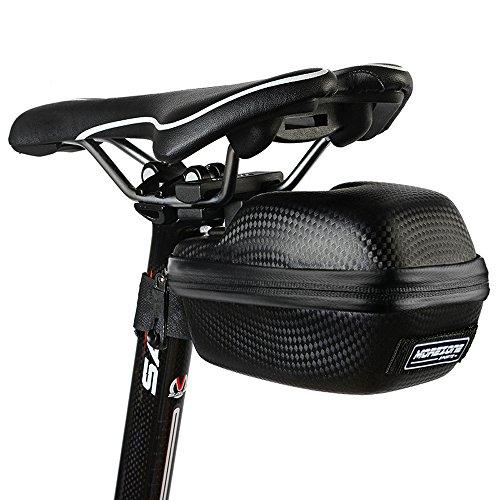 MOREZONE Sacoche de selle vtt Sac de selle de vélo 1.5L Sacoches de velo selle étanche Sièges Pack Cyclisme (Noir)