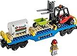 Lego City Eisenbahn Waggon mit Dieseltank und Gabelstapler aus Set 60052