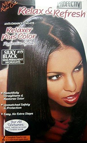 Relaxer / Glättungscreme Profectiv Anti Damage No Lye Relaxer Plus Color SILKY BLACK #19