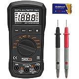 Tacklife DM03 Clásico Multímetro Digital auto-ranging 2000 cuentas amperímetro voltímetro ohmímetro con retención de dato MÁX para medir resistencia, diodo y continuidad audible
