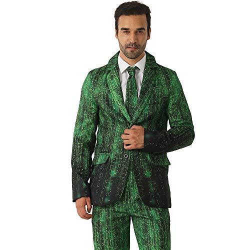 (EraSpooky Daten Hacker Anzüge für Männer kommt mit Jacke Hose und Krawatte)