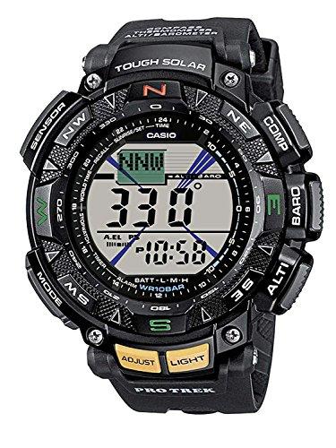 Casio Herren Uhr Digital mit Resinarmband PRG-240-1ER