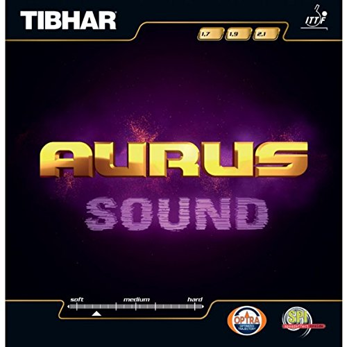 TIBHAR Aurus sonido tenis de mesa caucho, negro