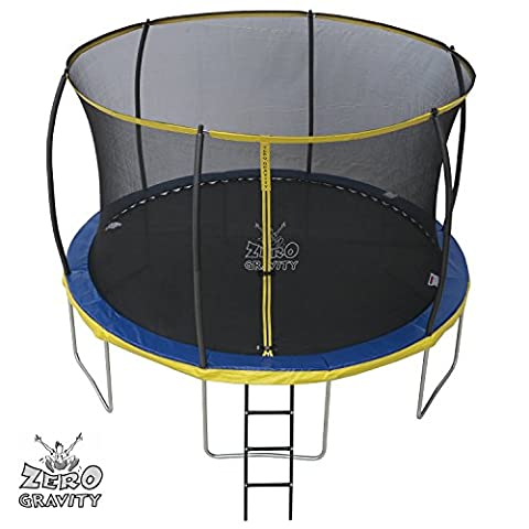 12ft Zero Gravity Ultima 4 High Spec Trampoline with Safety Enclosure Netting and Ladder