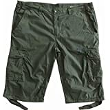 Camp David Herren Cargo Skater Bermuda Shorts Kurz Hose CCU-1855-1594KA M L XL XXL XXXL (XXL, Washed Khaki)