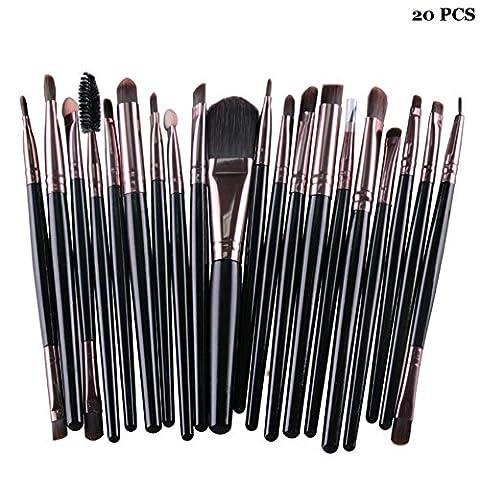 Cdet 20PCS pinceaux de maquillage des yeux Professionnel Teint Eyebrow Shadow Makeup Blush Kit Pinceau Ensemble brosse à maquillage Brosse à maquillage Maquillage