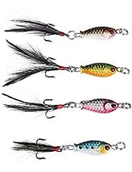Forfar Leurres de pêche 4pcs Leurres Minnow Mer en métal dur poisson crankbaits Crank Hook Bait Assortiment Lot s'attaquer à