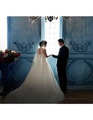 &huahua Accessories/manual/1.5*3m/single hilo/boda/novia capa/cordón/largo hilo/fuga alto grado/hermoso , milky white