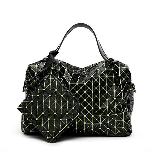 Lady Silicone Rombo Sacchetto Cuscino Cucitura Stile Giapponese Borse Cubo Piegatura Spalla Pacchetto Diagonale Borsa Casuale Quadrato Green