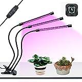 SEMOON USB Lamparas para Plantas luces Planta LED 27W Rojo Azul 360° Giratorio 8 Brillo Adjustable 3 Modos de Luz Temporizador con 3 Cabezales Lampara de Planta Cultivo Crecimiento Vegetal Flores