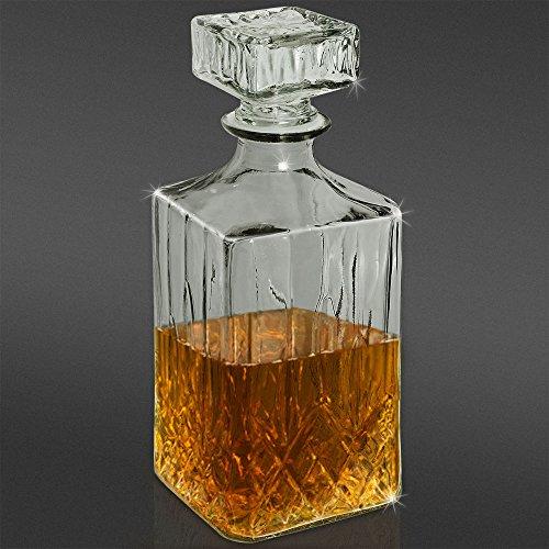 Klassische 900 ml 0,9 Liter Karaffe Glaskaraffe Whisky Cognac Flasche Whiskey Likör Wein Flasche