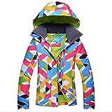 Veste de ski Chaud Respirant Imperméable Résistant à l'usure Femmes (multicolores, EU S (Asie M))