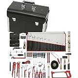 KS Tools 116.0195 - Kit de restauración y reparación de grifos de fontanería, 116 piezas, con maletín y bolsa portaherramientas de piel