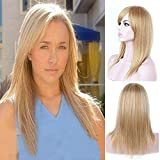 Langes glattes Haar, goldene Perücke