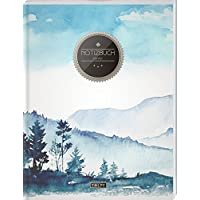 """TULPE Blanko Notizbuch A4 """"C055 Oilpainting"""" (140+ Seiten, Vintage Softcover, Seitenzahlen, Register, Weißes Papier - Dickes Notizheft, Skizzenbuch, Zeichenbuch, Blankobuch, Sketchbook)"""