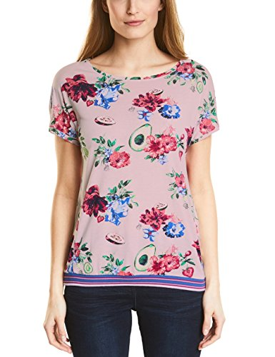 Cecil Damen 311961 T-Shirt, Mehrfarbig (Blossom Melange 31285), Small -