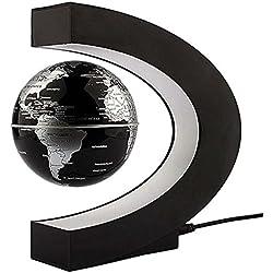 C Forma levitación magnética flotante Mapa del mundo globo tellurion LED Antigravity Magic/Novela luz casa decor-christmas regalo