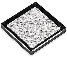 My IMPLEXIONS Luxuriöser Untersetzer veredelt mit Swarovski Kristallen/Elegante Tisch-Dekoration (1 Stück - schwarz)