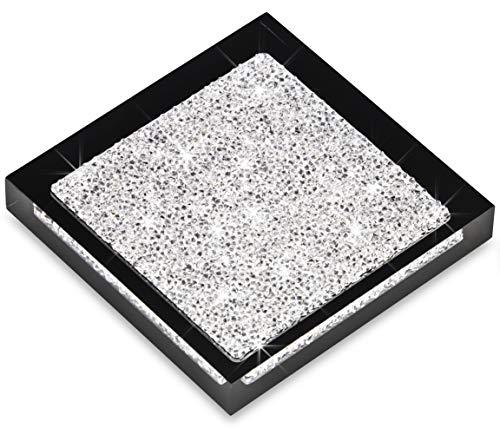Implexions by connexion Luxuriöser Infinity Untersetzer mit Swarovski Elements Kristallen/Elegante Tisch-Dekoration (1 Stück - schwarz)