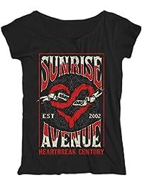 Sunrise Avenue Heartbreak Century - Scribble Heart - Girlie - Loose Fit - Shirt