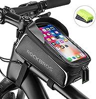 ROCKBROS fiets frametas waterdicht voor mobiele telefoons tot 6,0 inch (6,0 inch) met hoofdtelefoongat mobiele telefoon...