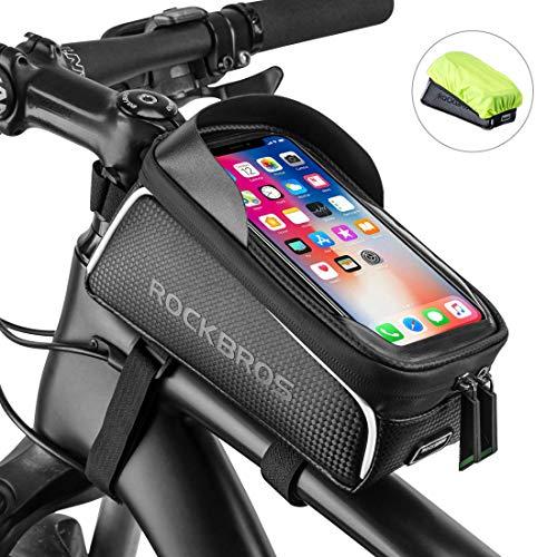 ROCKBROS Bolsa Cuadro de Bicicleta para Tubo Superior Impermeable con Pantalla Táctil para Teléfono...