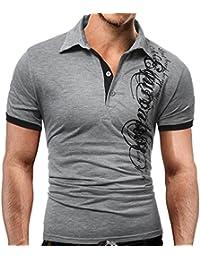 AIMEE7 Hommes T-Shirt à Manches Courtes Impression Polo Sport T-Shirt  Personnalité Chemise Mode Col Rond Tee Shirt Tops Clearance Big Été… 12eb9df80ffb