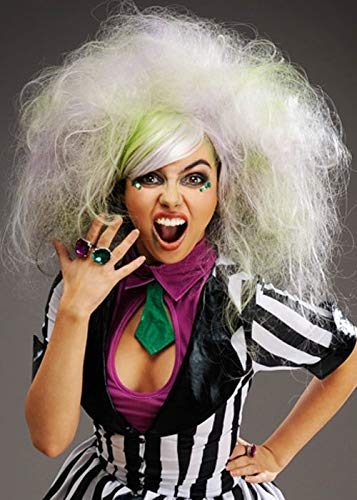 Magic Box Int. Womens Deluxe Grau Backcombed Beetlejuice Style - Beetlejuice Kostüm Perücke