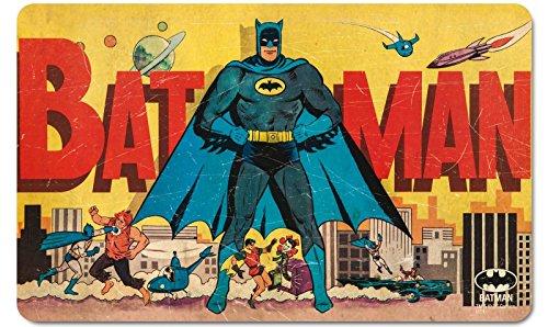 DC Comics - Tagliere/tovaglietta americana rigida, stile retro, soggetto: Batman-Gotham City