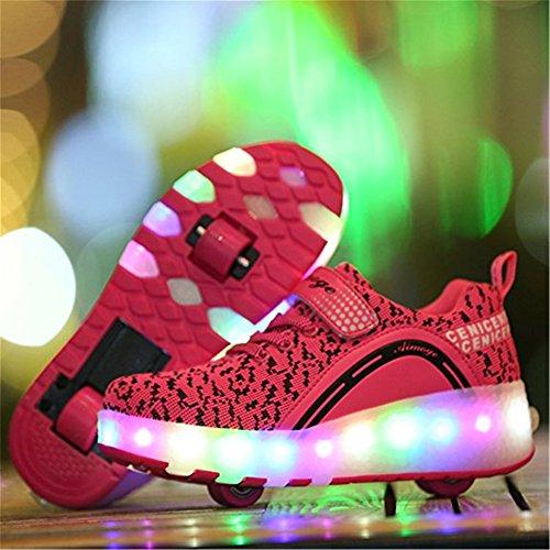 Licht Sneaker Rose Leuchtend Sport Blinkschuhe Turnschuhe