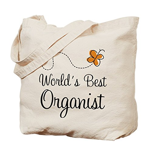 CafePress-Worlds Best Organist-Leinwand Natur Tasche, Reinigungstuch Einkaufstasche (Beste Leinwand Tote Taschen)