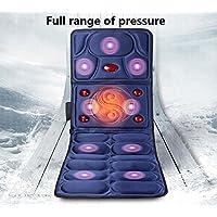 CHENGREN Multi-función de masaje colchón de calentamiento descarga eléctrica de todo el cuerpo de masaje manta de equipos de masaje salud de los ancianos cojines de masaje tamaño azul y rojo plegable 167 * 61 * cm , 1