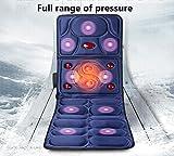 SHISHANG matelas de massage chauffant multifonction choc électrique corps couverture de massage personnes âgées coussins de massage équipement de massage de santé de taille pliable bleu et rouge 167 * 61 * cm , 1