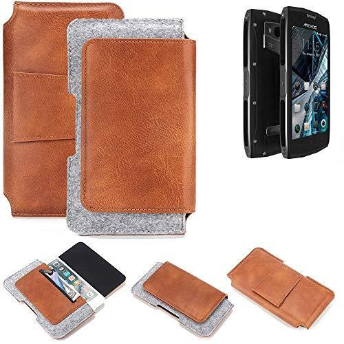 K-S-Trade Gürteltasche für Archos Sense 50 X Gürtel Tasche Schutz Hülle Hüfttasche Belt Case Schutzhülle Handy Hülle Smartphone Sleeve aus Filz + Kunstleder (1 St.)