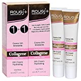 Rougj - Crema Viso 24h Idratante al Collagene per Pelle Delicata - 2 x 40 ml | Confezione doppia con due tubetti da 40 ml