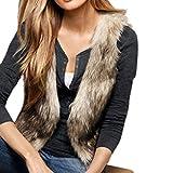 Nouveau Veste Sans Manches Automne Hiver Gilet Court Manteau en Fausse Fourrure Cheveux Longs Vêtement de plein air Super Chaud Mode et Elégant Douce pour Femmes Dames XXXL
