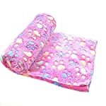 Lumanuby 1 Pcs Dog Blanket Super Soft Warm Lovely Pet Bed For Puppies Cat Blanket Bone Design Rug Pet Supplies (Rose, 60 * 40cm)