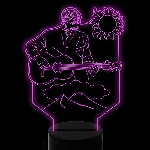 Qliyt 7 Farbwechsel Kinder Touch Usb 3D Sänger Spielt Die Gitarre Led Sonne Wolke Berg Nachtlichter Schreibtischlampe Baby Schlafzimmer Dekor Geschenke Fernbedienung Und Touch -