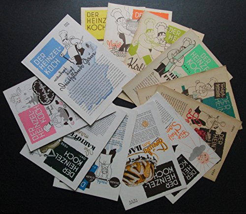 Der Heinzelkoch Hefte 1 bis 12 von 1939 - kompletter Jahrgang ( Kartoffeln , Quark , Kondtirorei , Fleisch , Obst , Gemüse )