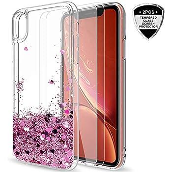 LCHDA Coque Apple iPhone XR Anneau Doigt de Maintien Bague Support Bequille Souple Silicone Anti