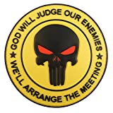 GOD WILL JUDGE OUR ENEMIES Punitore Punisher DEVGRU Marina Navy Seals PVC Fastener Toppa Patch