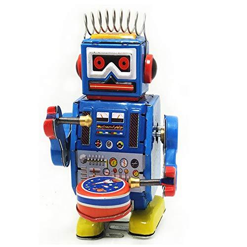 YTCWR Spielzeug des Uhrwerkroboterwicklungsfrühlingswicklung
