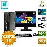 Pack PC HP Compaq 6200 Pro SFF Core i3 3.1GHz 4GB 500GB DVD WIFI W7 + Bildschirm 22