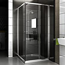 Cabina de ducha/Mampara Incluye cristal los arañazos/90X 90X 190/esquina ducha/baño/baño/ducha etc.