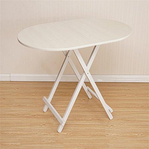 Ymxljf tavolo da pranzo pieghevole, scrivania computer, tavolo ovale semplice portatile, tavolo da stalla all'aperto (colore : bianca)