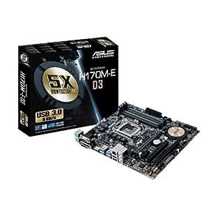 Asus H170M-E D3 - LGA1151 for 6th Generation Processor (DDR3/DDR3L , USB 3.0, Intel H170 Chipset) MotherBoard