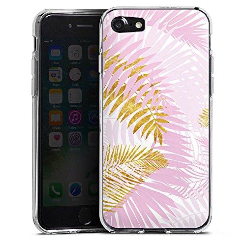 Apple iPhone X Silikon Hülle Case Schutzhülle Palme Palmenblätter Dschungel Silikon Case transparent