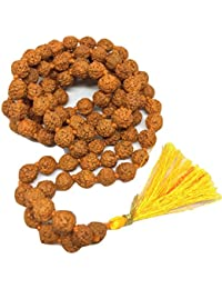 Certified Natural 100% Original Rudraksha Mala With Certificate Of Authenticity 7 Mm Beads